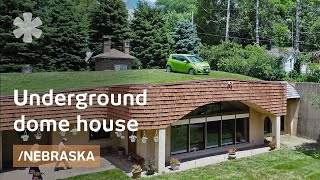 Underground dome house stays warm in Omaha winters