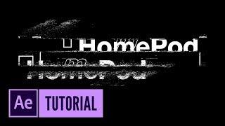 After Effects: HomePod-like animaiton | Audio React + Glitch Effect