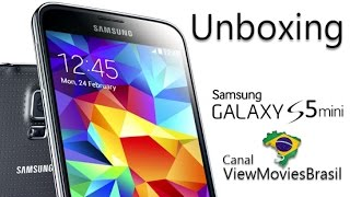 unboxing do samsung galaxy s5 mini duos 3g sm g800h ds pt br