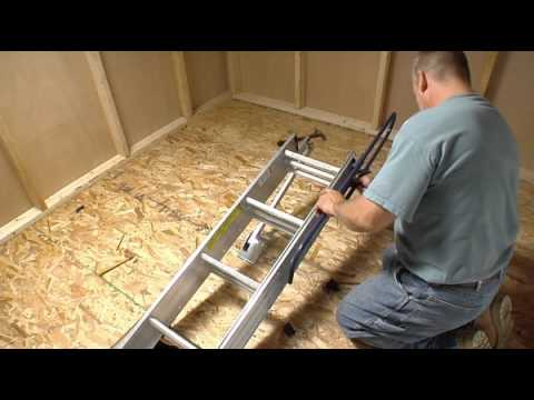 Werner Compact Attic Ladder   Short Installation Video   YouTube