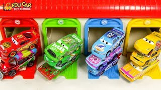 Learning Color Disney Cars Lightning McQueen garage Play for kids car toys