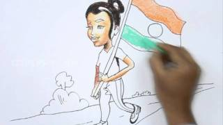 How to Draw a Patriotic Indian Girl