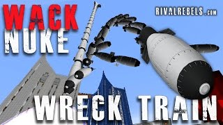 Wreck Train vs Minecraft Wack Nuke mod