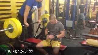 Жим лежа 110 кг - Влад Ткаченко / Bench press 110 kg (243lbs) Vlad Tkachenko