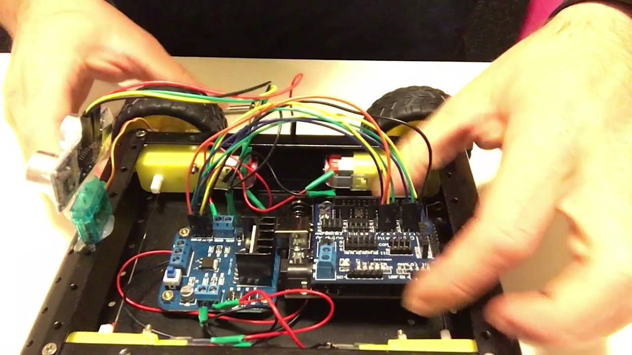 building an autonomous 4wd robotic car with arduino part 2 - wiring up the  car - youtube