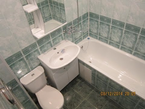 Секреты отделки ванной комнаты  ПВХ панелями