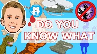 DO YOU KNOW WHAT 1 - Tooth fairy, Police, Army, Dinosaurs, Hamster, Football and many more