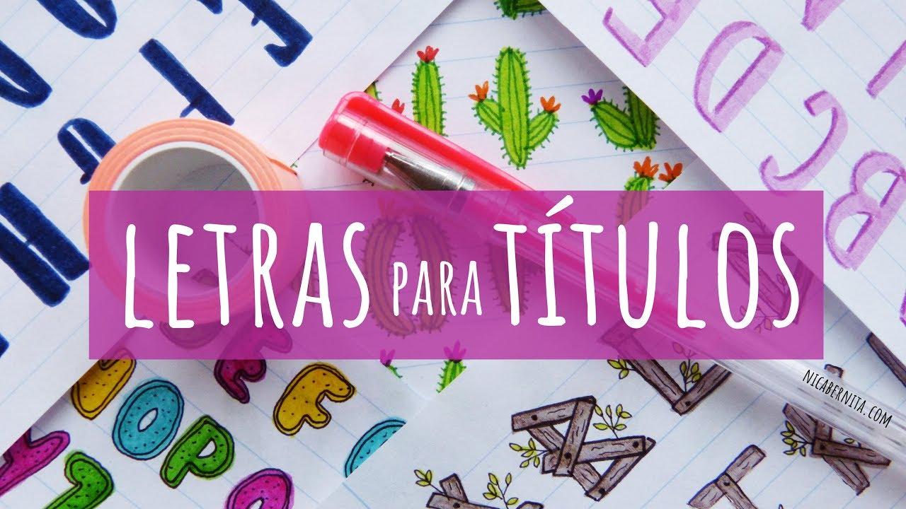 6 Tipos De Letras Para Decorar Apuntes Cuadernos O Carteles Cómo Hacer Letras Bonitas Y Fáciles