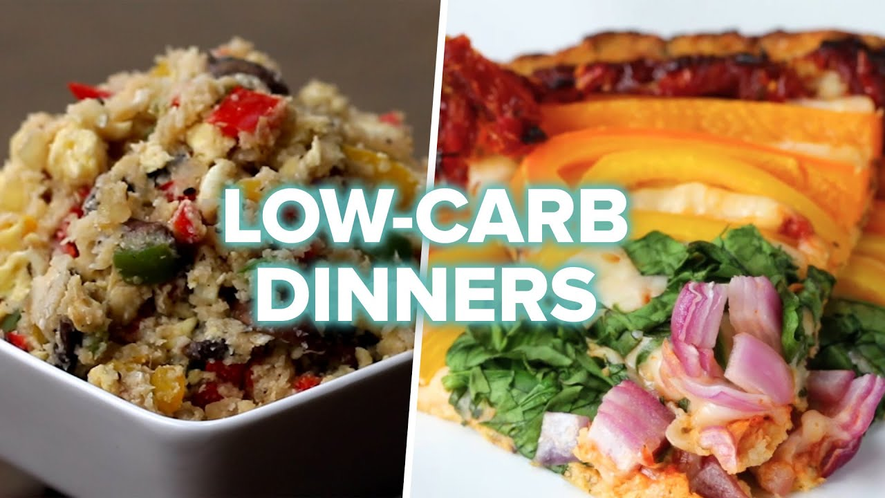 7 Low Carb Veggie Dinners Youtube