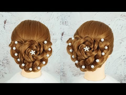 Most Beautiful Hairstyles For Party And Wedding - Ladies Hairstyle | Bun Hairstyle With Braid thumbnail