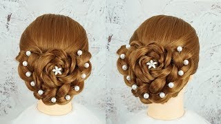Most Beautiful Hairstyles For Party And Wedding - Ladies Hairstyle | Bun Hairstyle With Braid