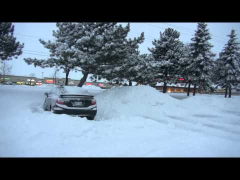 Winter Storm Kitchener/Waterloo Ontario 2013