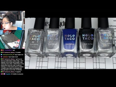 Nail Polish Testing | Holo Taco Water Marble Extended Nail Art Tutorial [Streamed 7/10/19] thumbnail