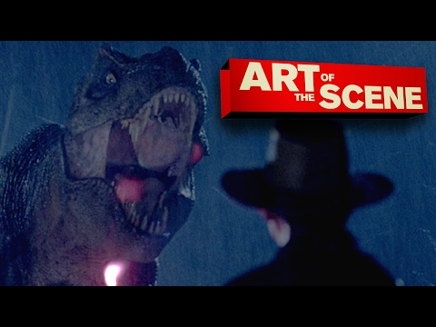 Jurassic Park's T-Rex Paddock Attack - Art of the Scene