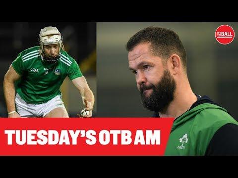 OTB AM: Andy Farrell's XV, Ronan O'Gara, Hurling recap, Diarmuid Lyng, Mary-Kate Slattery |
