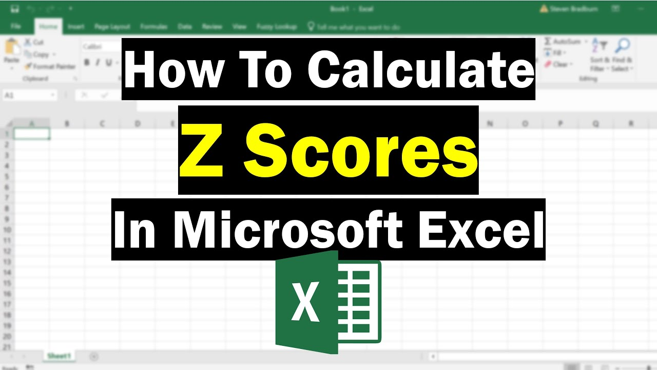 How To Calculate Z Scores In Excel