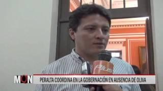 25/11/15  14:25  PERALTA COORDINA EN LA GOBERNACIÓN EN AUSENCIA DE OLIVA