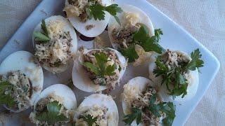 Яйця, фаршировані курячою печінкою (sub)