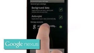 Getting to know your Nexus S: Signing in with your Google account