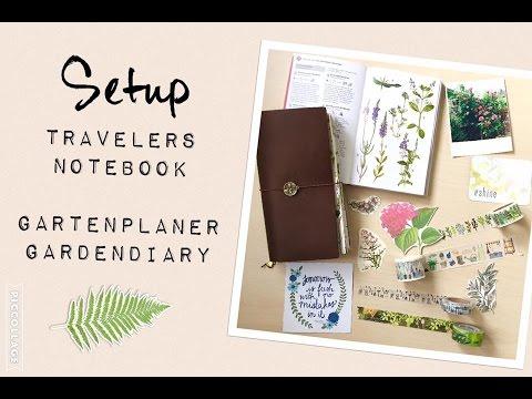 Setup Midori Travelers Notebook | Gartentagebuch | Gartenjournal | filolove_