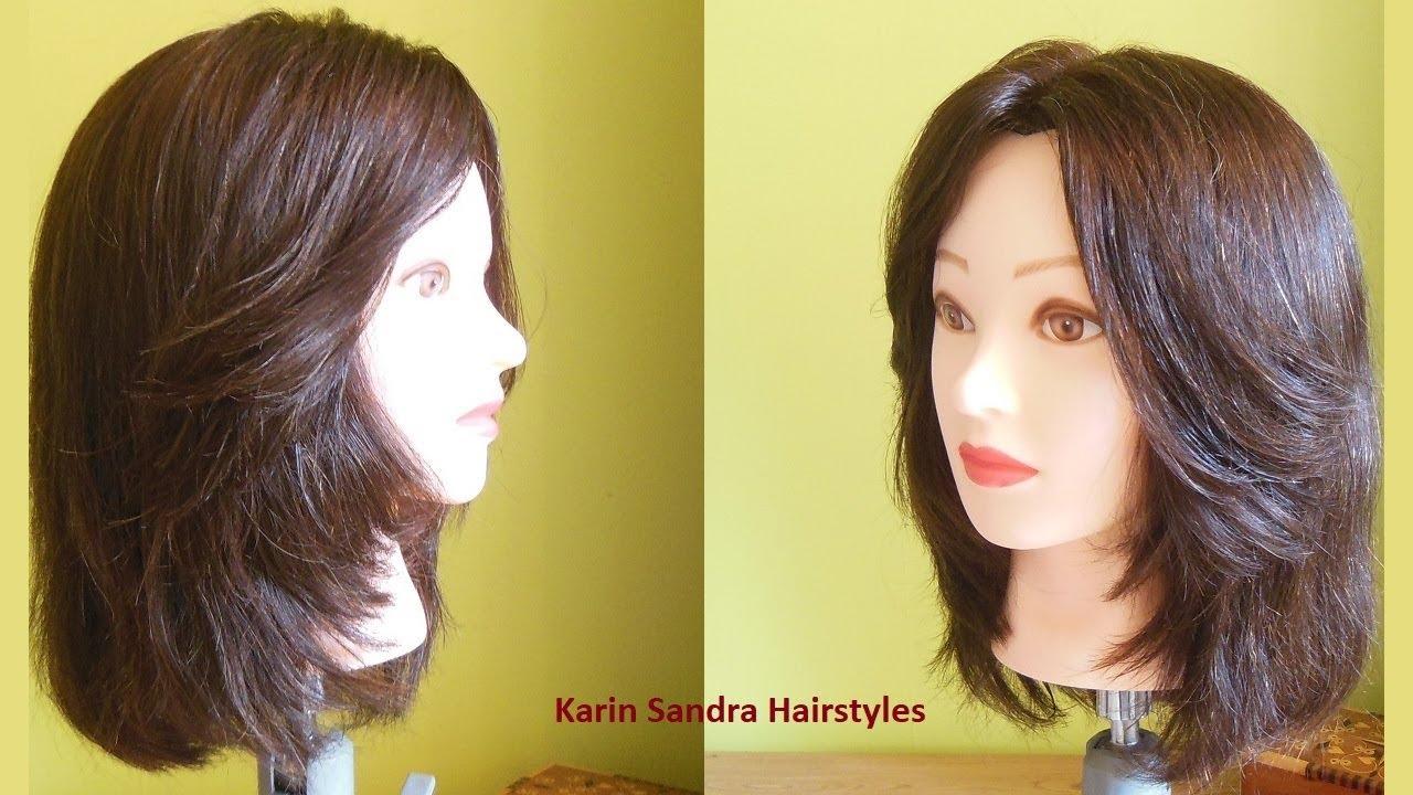 bob haircut with face framing layers haircut | medium length layers haircut