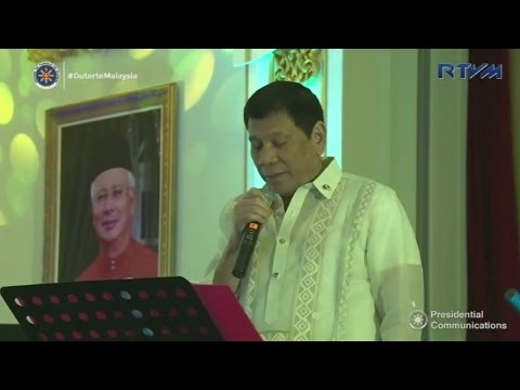 Karaoke singing leaders: Philippine President and Malaysian PM duet at state banquet