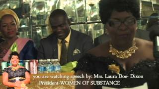 Mrs. Laura Doe Dixon : President- Women Of Substance of the Delaware Valley
