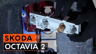 How to change rear light lamp bulbs on SKODA OCTAVIA 2 (1Z3) TUTORIAL | AUTODOC
