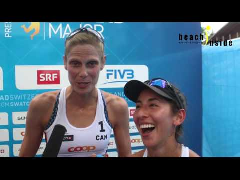 Two Medals and a cowbell: CAN Sarah Pavan / Melissa Humana-Paredes after #GstaadMajor Event
