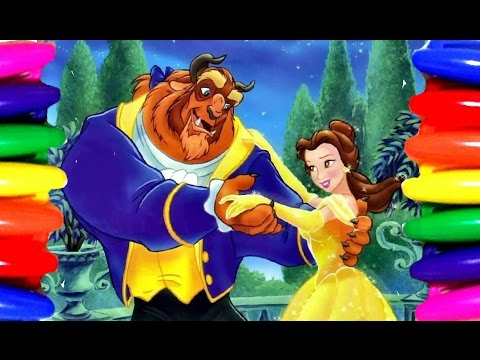 Disney Princess Belle Beauty And The Beast Coloring Book Pages Kids Videos Learning Colors Youtube