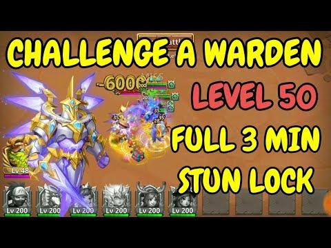 Level 50 L Challenge A Warden L Saint L Castle Clash