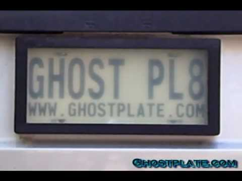License Plate Holders >> ghostplate LCD License Plate Cover real plate Demo - YouTube