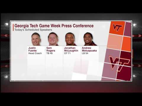 Football - Georgia Tech Game Week Press Conference