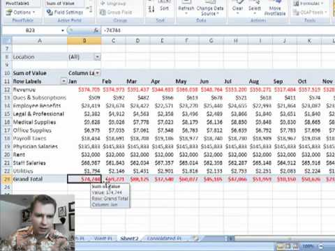 Excel Video 20 Consolidating Multiple Ranges Into One Pivot Table
