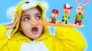 Katy & Cutie has Magic Super Long Nose and Big Ears | Funny Kids Video