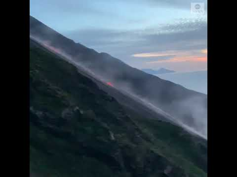 Italy's Mount Stromboli Erupts   ABC News