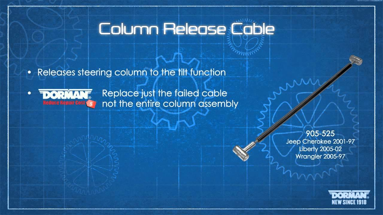 medium resolution of tilt column release cable