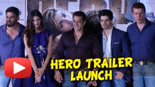 HERO Official Trailer Launch UNCUT | Salman Khan Introduces Sooraj Pancholi And Athiya Shetty