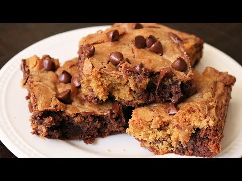 How To Make Easy Chocolate Chip Brookies - Delicious Chocolate Chip Cookie Brownies
