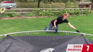 Montage-instructies BERG InGround Champion trampoline