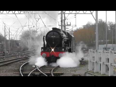 LMS No. 46115 'Scots Guardsman' 'The Mid Day Scot' - Penrith and Carlisle - 11th March 2017