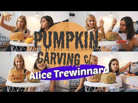 PUMPKIN CARVING C/ ALICE TREWINNARD | SofiaBBeauty