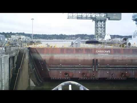 Puget Sound Naval Shipyard caisson in action