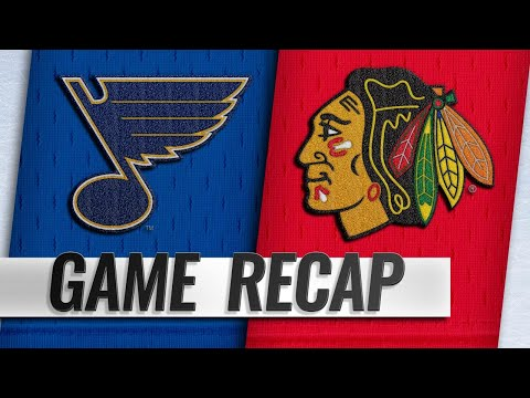 DeBrincat's second goal lifts Hawks past Blues in OT