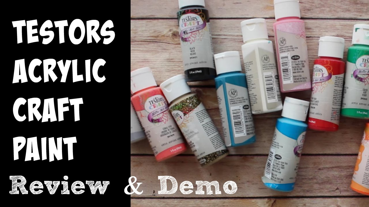 testors acrylic paints review and demo youtube