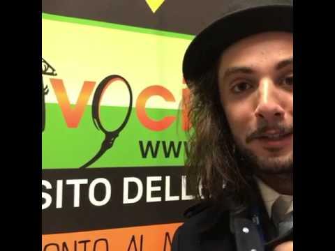 Il cantante Tommaso Pini saluta VOCI.fm a Sanremo 2017