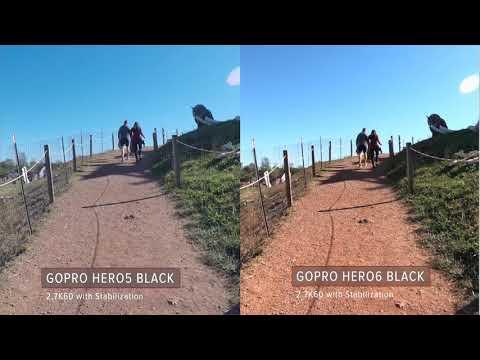 GoPro HERO5 Black vs HERO6 Black Stabilization Test / 2.7K60 Walking