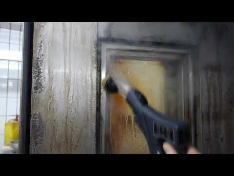 Cleaning Glass Oven Door with Steam