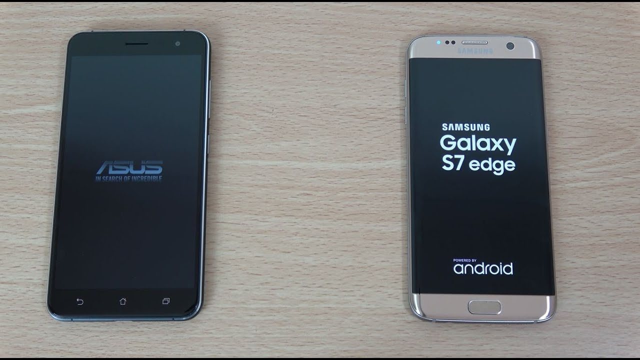 Asus Zenfone 3 and Samsung Galaxy S7 Edge - Test of the Speed and Camera!