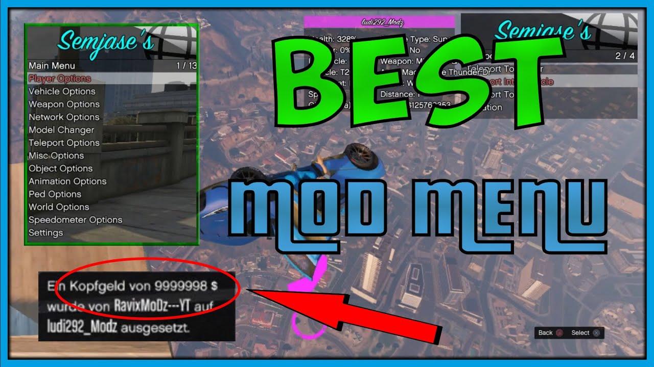 Gta 5 Online Best Mod Menu Semjases New Sprx Menu 1